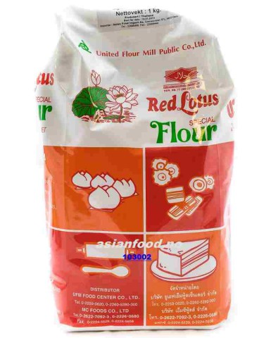 Bot banh bao / RED LOTUS Special flour 1kg TH - Asiabutikk.no
