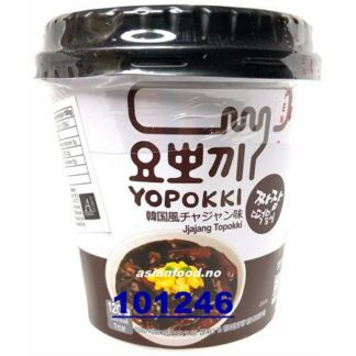 YOPOKKI Inst Black soybean Topokki CUP Banh gao LY tuong den 1x120g KR
