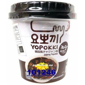 YOPOKKI Inst Black soybean Topokki CUP Banh gao LY tuong den 1x120g KR