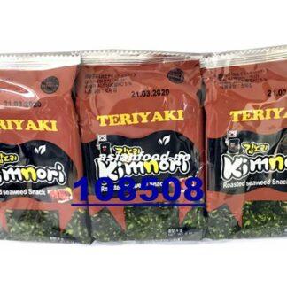 KIMNORI Roasted seaweed snack - Teriyaki Rong bien an lien (chips) 3x4gKR